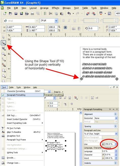 vertical text in coreldraw x4 line spacing not working coreldraw x5 coreldraw