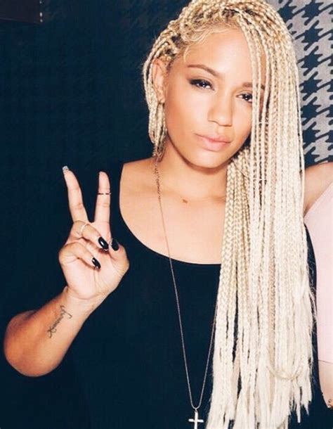 women with long blonde braids try blonde braids on for size natural hair style braids