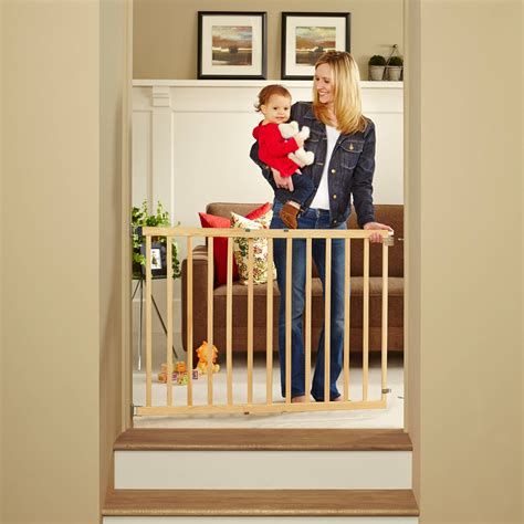 swinging baby gate for stairs north states tall stairway swing gate top of stairs baby
