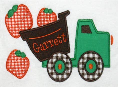 Pumpkin Dump Truck Applique Design by Home Www Blessedbeethename