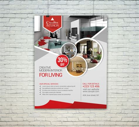 home design template interior design flyer template 29 free psd ai vector
