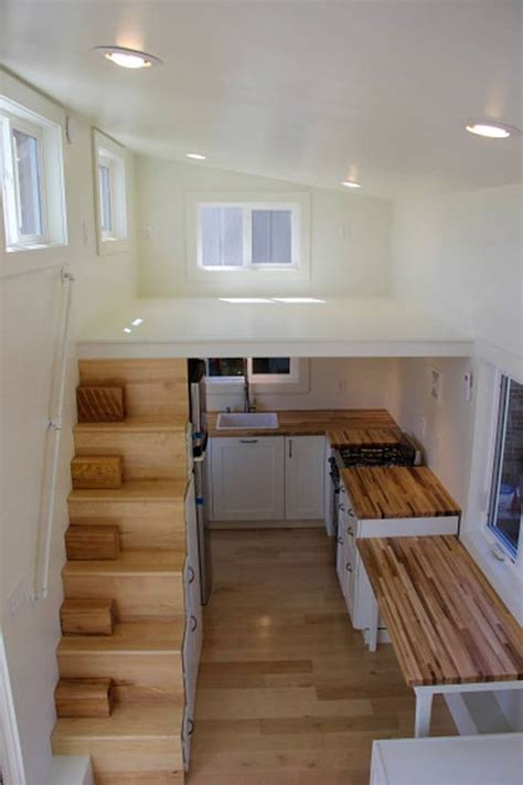 tiny home with a big kitchen modern tiny home boasts a big kitchen for foodies treehugger
