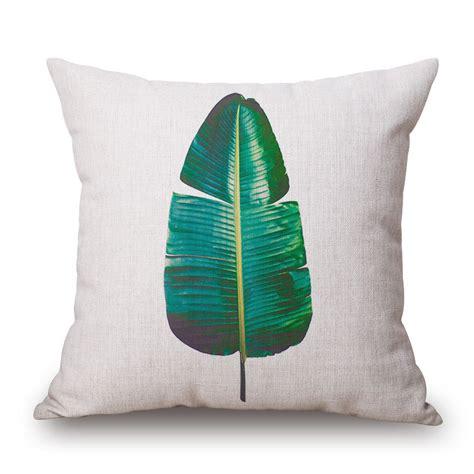 leaf pattern cushions tropical beach cushion cover rainforest palm banana leaf