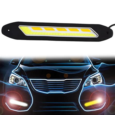 led lights for cars store 2pcs flexible waterproof white and yellow car head light