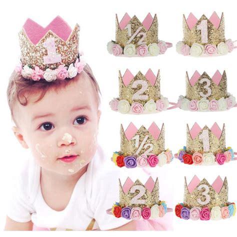 gold crown headband girls or boy s birthday by 2017 flower crown newborn headband gold birthday crown