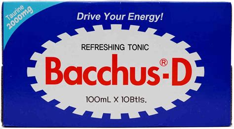 bacchus d energy drink bacchus d energy drink 100ml x 10 bottle my asian grocer