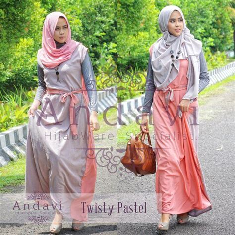 Dress Wanita Remaja 3 model dress muslimah remaja modern sleveless 2 sisi unik