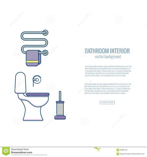 dream dictionary bathroom bathroom end stock vector image 83383152