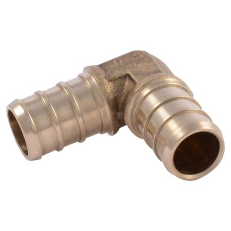 Shark Plumbing Fittings Reviews by Sharkbite 1 2 In Brass Pex Barb 90 Degree Uc248lfa