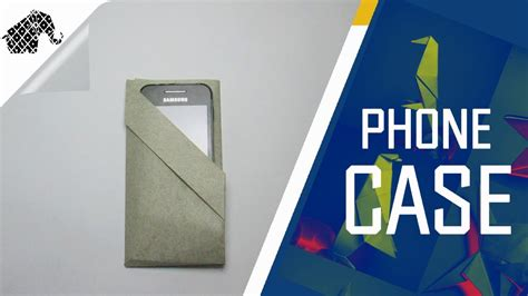How To Make Paper Phone - origami how to make an origami phone pouch