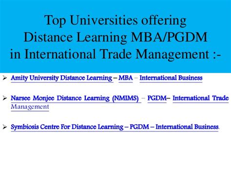 Mba In Service Management Scope by Post Graduation In International Trade Management Scope