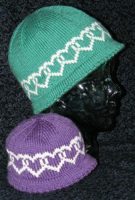 heart hat pattern hats with interlocking hearts knitting fair isle