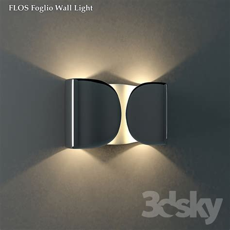 3d models wall light l flos foglio wall light