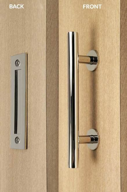 Flush Door Handles by Pull And Flush Door Handle Set Polished Finish