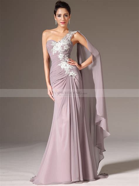 how to do draping on a dress yudelle appliqued one shoulder chiffon prom dress with