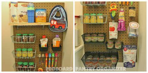 DIY Pegboard Pantry Organizer