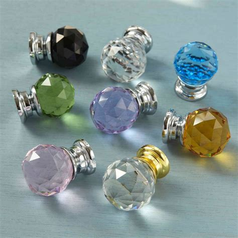 Glass Wardrobe Door Knobs Faceted Glass Cupboard Door Knobs By Pushka Home Notonthehighstreet