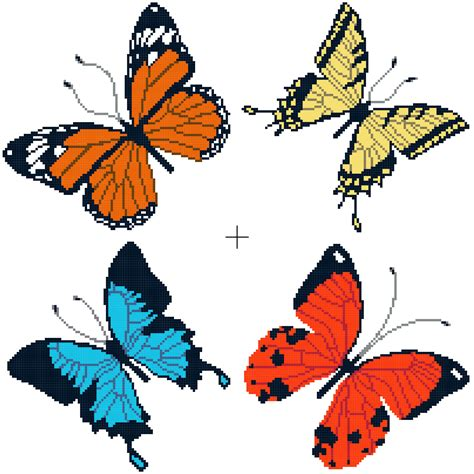 butterfly pattern in c free cross stitch patterns better cross stitch