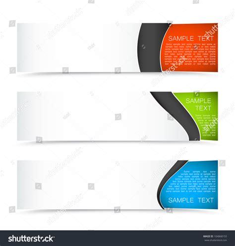 banner shutterstock set colorful horizontal banners on light stock vector