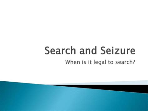 Recent On Search And Seizure Ppt Search And Seizure Powerpoint Presentation Id 2038866