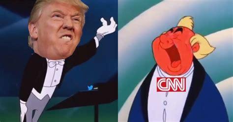 Cnn Meme - trump versus fake news great cnn meme war goes viral