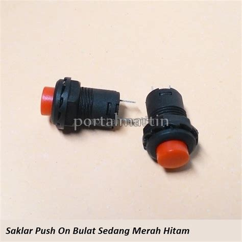 Jual Saklar On jual saklar push on medium merah hitam di lapak portal
