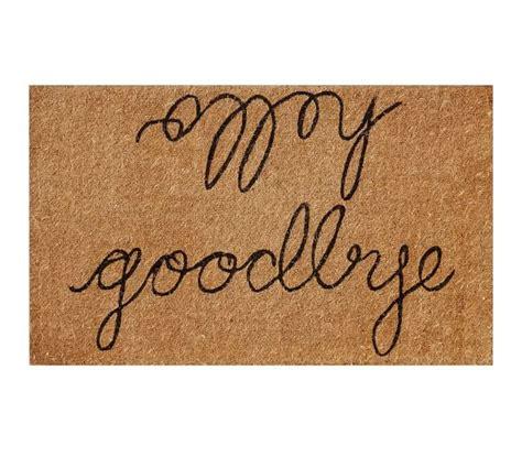 Hello Goodbye Doormat hello goodbye doormat pottery barn