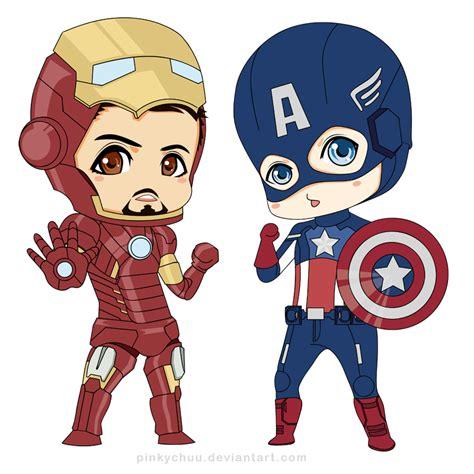 randomized chibi iron and captain america xd been