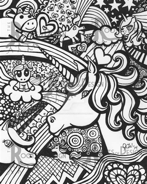 doodle drawings printable unicorn doodle by therootsofdesign on deviantart