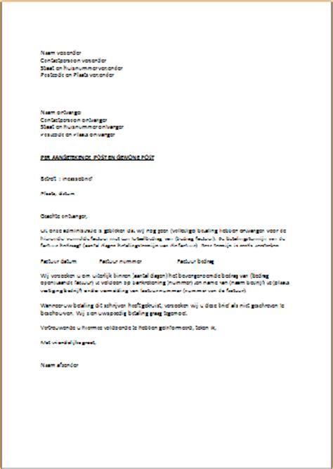 Informele Briefformat Voorbeeld Incassobrief