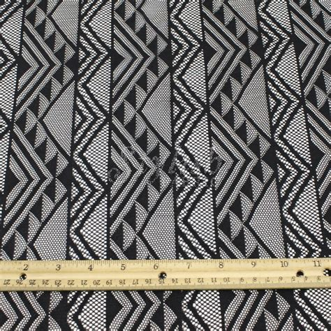 tribal pattern upholstery tribal lace fabric black geometric lace by the yard elisa