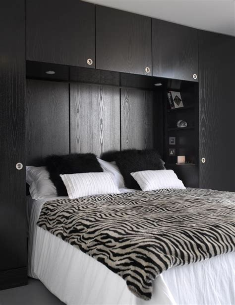 over the bed organizer master bedroom with bespoke black ash over bed storage
