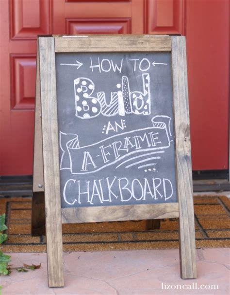 diy chalkboard how to diy chalkboard sandwich board today s creative