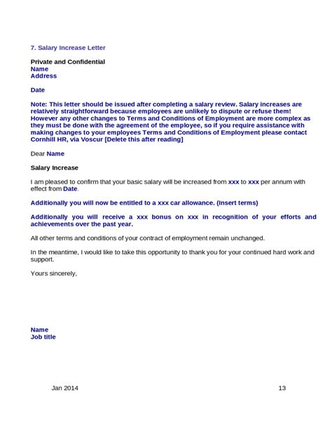 Raise Confirmation Letter Salary Increment Letter Template 2 Free Templates In Pdf