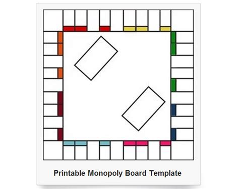 6 best images of printable blank monopoly board blank