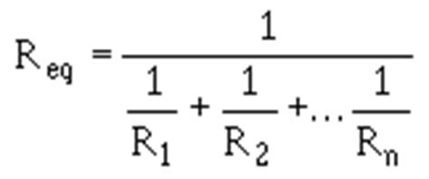 three parallel resistors equation resistance in a parallel circuit