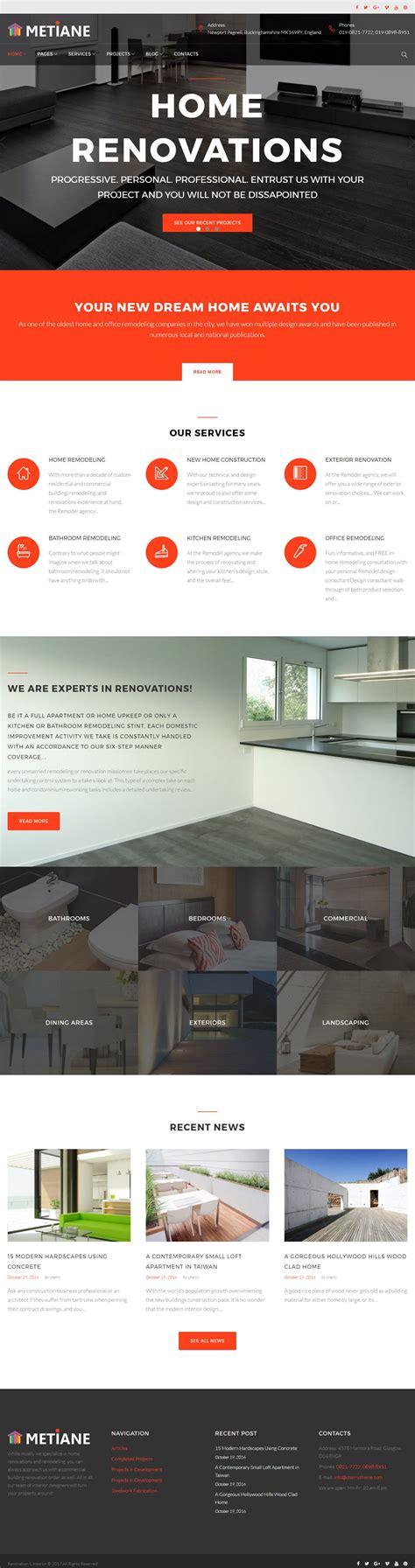 interior design themes wordpress metiane interior design wordpress theme wordpress