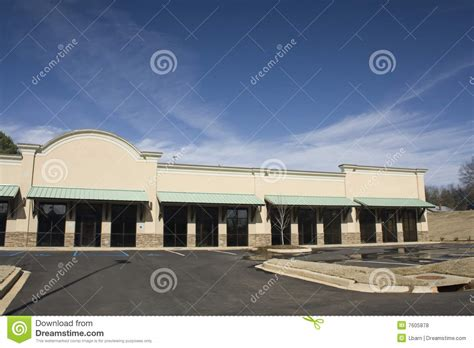 green awnings green awning commerical strip mall royalty free stock
