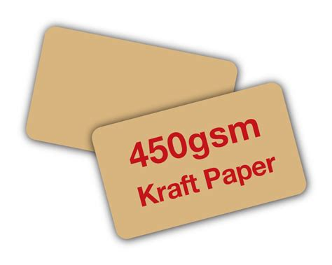 printable kraft paper business cards kraft paper cards 450gsm unique stock cards business