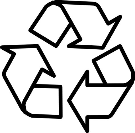 recycling symbol outline clip at clker vector