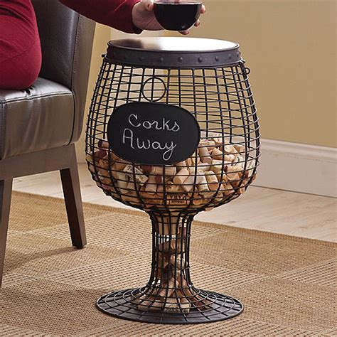 wine cork table decorations wine glass cork catcher accent table wine enthusiast