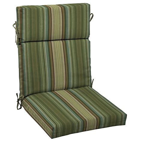 Outdoor Patio Chair Cushions Garden Treasures Providence Stripe High Back Chair Cushion Lowe S Canada