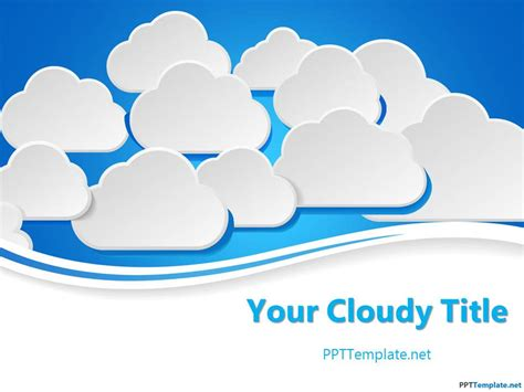 powerpoint it templates free clouds ppt template