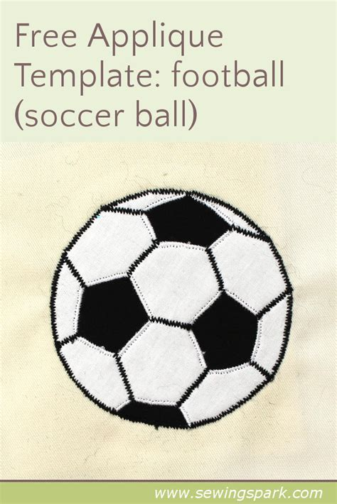 Applique Templates Sewing Spark Soccer Template