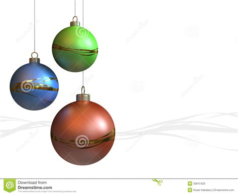 christmas ornaments modern stock photo image 30815420