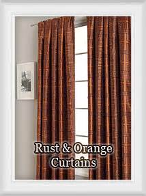 Copper Colored Curtains Rust Curtain Panels Rooms