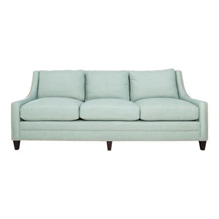 Blue Linen Sofa by Safavieh Couture High Line Collection Marlowe Light Blue