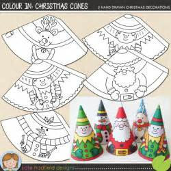 the lilypad crafts colour in christmas cones