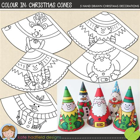 printable christmas masks christmas cones love this fun and easy craft