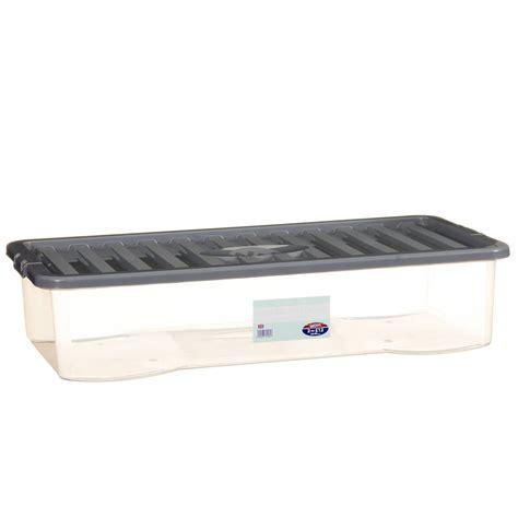Underbed Box Storage 1 jumbo underbed storage box with lid home storage b m